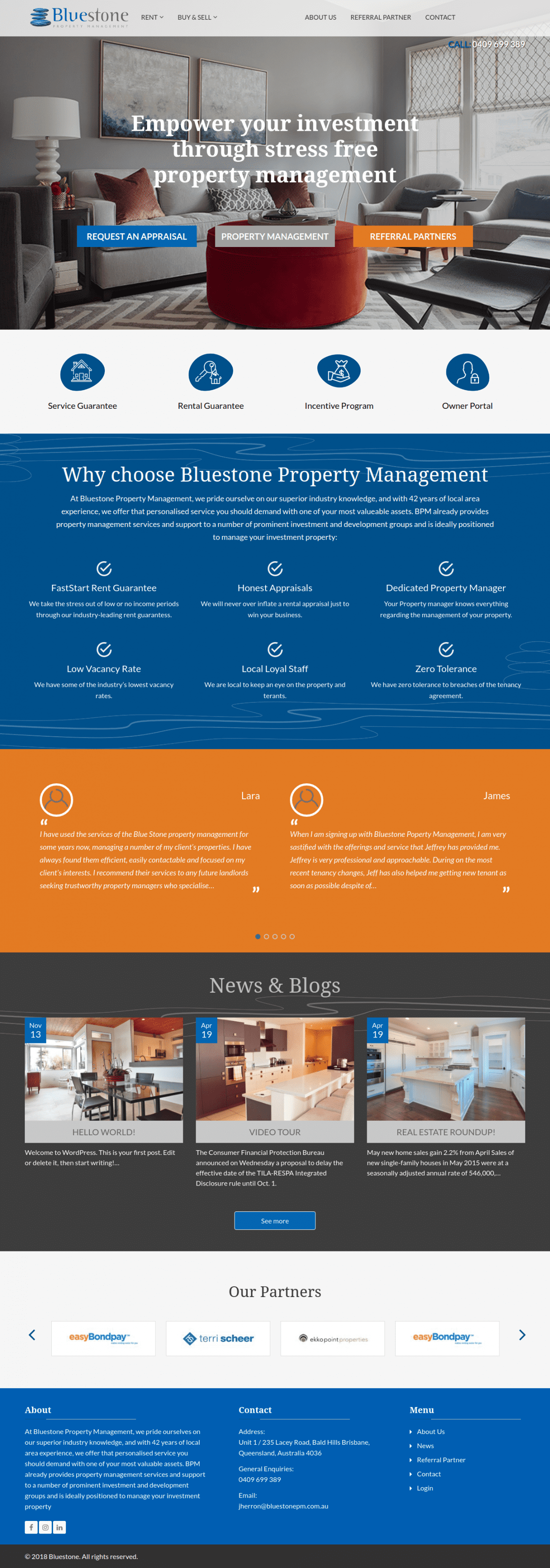Bluestone home page